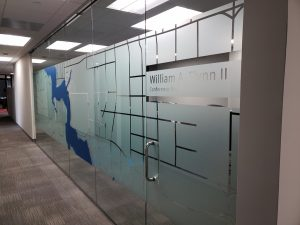 3M Dusted Crystal, Conference Room, Decorative Film, Arlington, TX