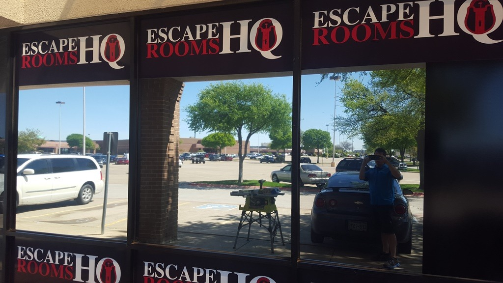 Escape Room HQ Optitune 05 Window film Lewisville
