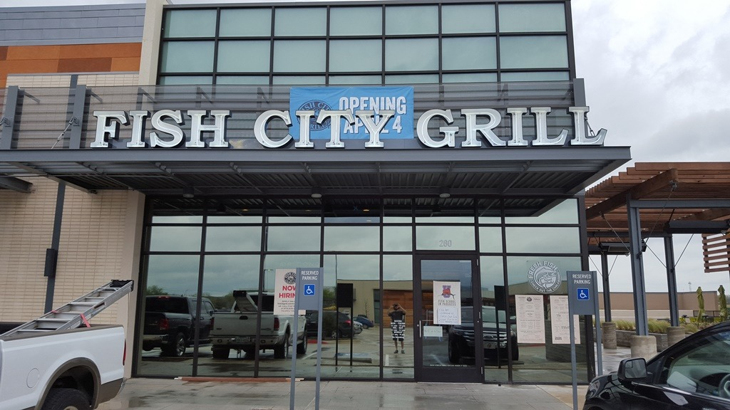 Fish City Grill Richardson 3M San Marino on Tops/NV-15 on Middle & Prestige 50 on Bottom/Commercial Window Tinting