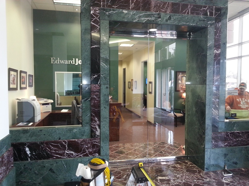 Edward Jones Arlington Decorative Film Before