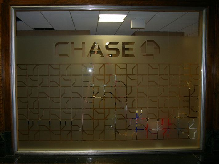 Chase Bank Wichita Falls custom decorative film