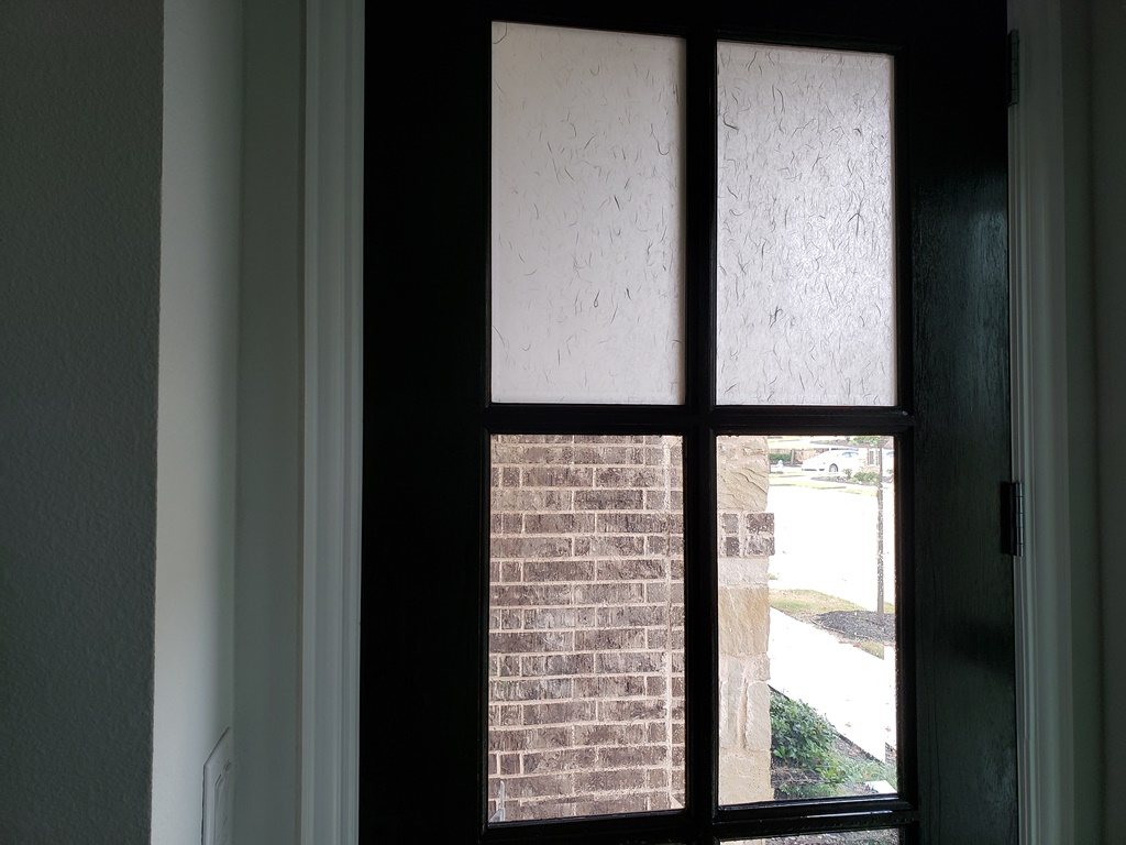 Solyx Shoji Screen White, Decorative Privacy Film, Flower Mound TX