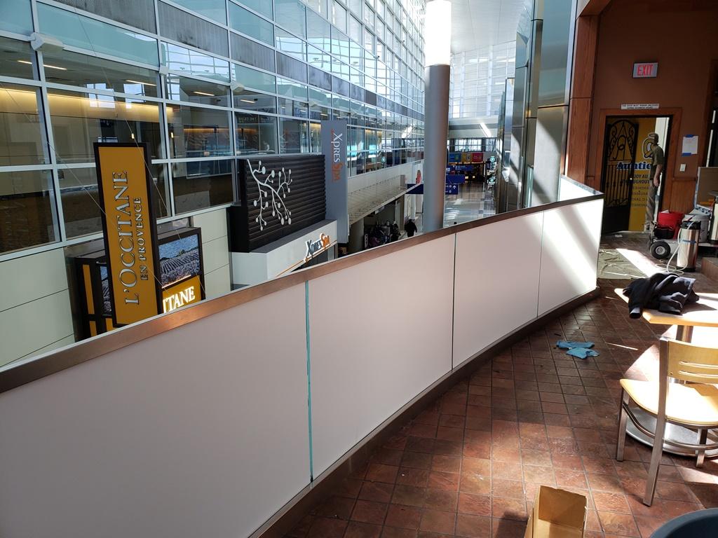 3M White Electrocut, Whiteout Film, DFW Airport, TX