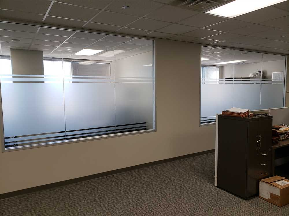 3M Dusted Crystal, Executive Offices, Privacy Frost, Decorative Film, Arlington, TX