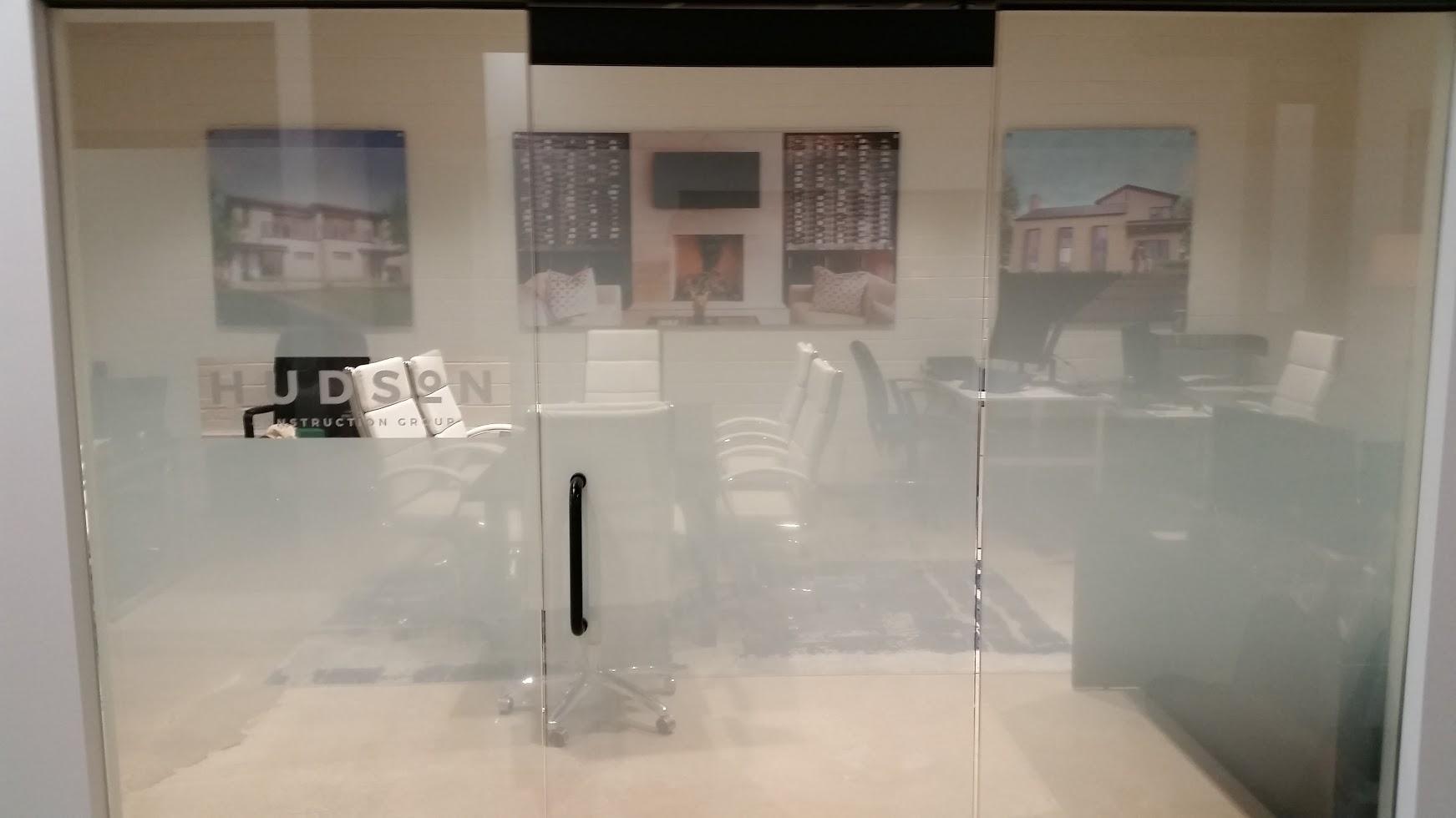 Solyx Gradient, Decorative Privacy Film, Logo installation, Dallas, TX